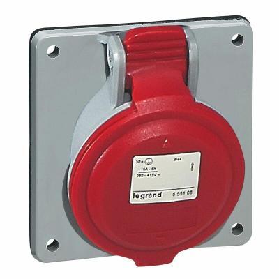 Prise à entraxes unifiés fixe P17 IP44 32A - 380V~ à 415V~ - 3P+