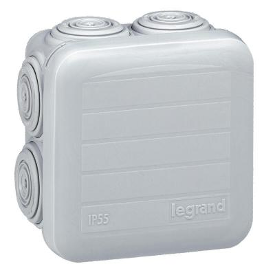 Boîte de dérivation carrée Plexo dimensions 65x65x40mm - gris
