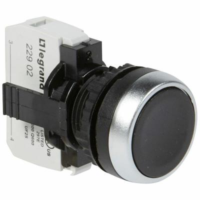 Bouton non lumineux à impulsion affleurant IP69 Osmoz complet -